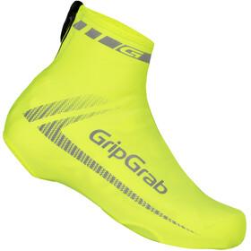 GripGrab RaceAero Hi-Vis Lightweight Lycra Surchaussures en lycra légères et haute visibilité, yellow